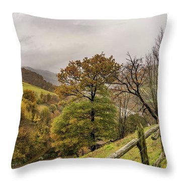 Mountains And Valleys All Around Throw Pillow