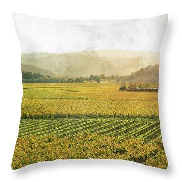Napa Valley California In Autumn Throw Pillow