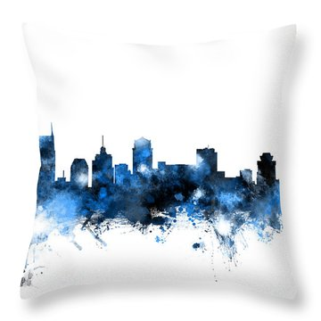 Nashville Tennessee Skyline Throw Pillow