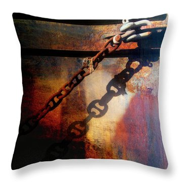 Nautical Industrial Art Square Throw Pillow