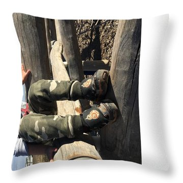 Throw Pillow featuring the digital art Rover In Dusk by Bryan Versteeg
