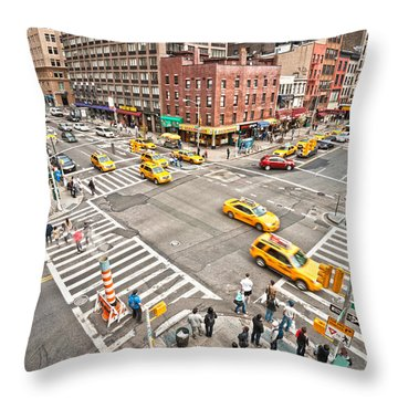 New York City Throw Pillow by Luciano Mortula