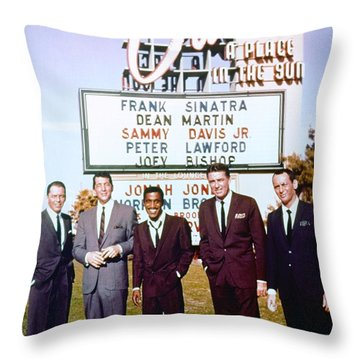Ocean's 11 Promotional Photo Throw Pillow by The Titanic Project