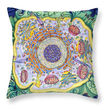 Ode To The Eukaryote Throw Pillow