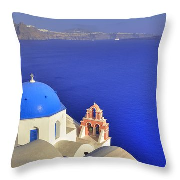 Oia - Santorini Throw Pillow