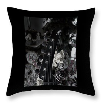 Parker Fly Guitar Headstock Throw Pillow