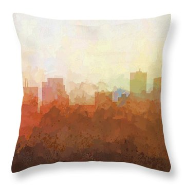 Throw Pillow featuring the digital art Parsippany New Jersey Skyline by Marlene Watson