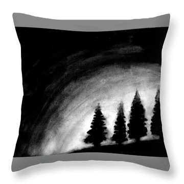 4 Pines Throw Pillow