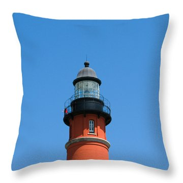 Ponce De Leon Inlet Lighthouse Throw Pillow by Allan  Hughes
