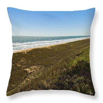 Ponte Vedra Beach Throw Pillow by Raul Rodriguez