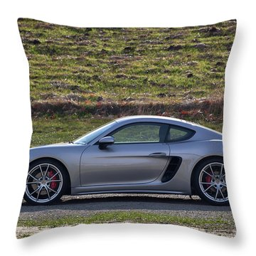 #porsche #718cayman S #print Throw Pillow