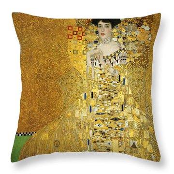 Portrait Of Adele Bloch-bauer I Throw Pillow by Gustav Klimt