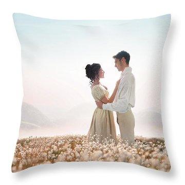 Regency Couple Throw Pillow by Lee Avison
