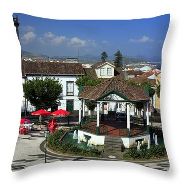Ribeira Grande - Azores Throw Pillow by Gaspar Avila