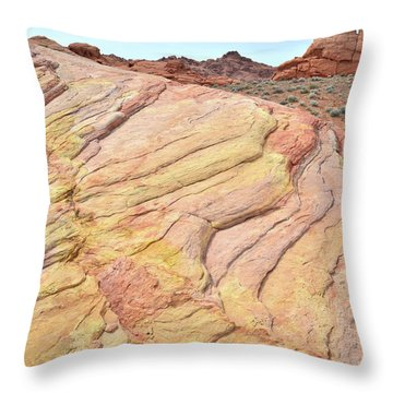 Throw Pillow featuring the photograph Ripples Of Color In Valley Of Fire by Ray Mathis
