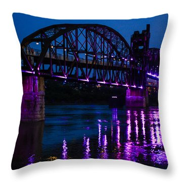 Rock Island Bridge Arkinsas Throw Pillow