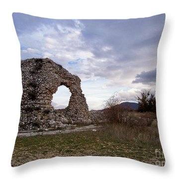 Throw Pillow featuring the photograph Roman Ruins by Judy Kirouac
