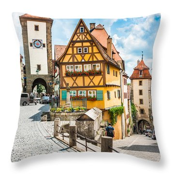 Rothenburg Ob Der Tauber Throw Pillow