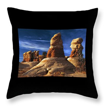 Sandstone Hoodoos In Utah Desert Throw Pillow