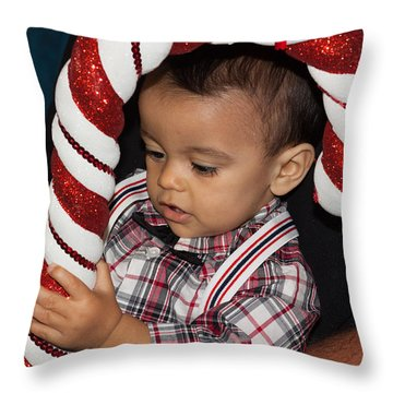 Smith Family Holiday Throw Pillow