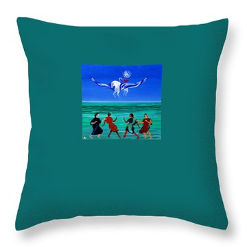Sons Of The Sun Throw Pillow