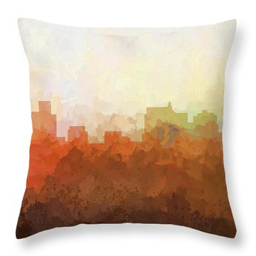 Throw Pillow featuring the digital art Springfield Illinois Skyline by Marlene Watson