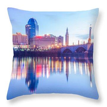 Springfield Massachusetts City Skyline Early Morning Throw Pillow