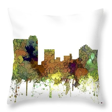 Throw Pillow featuring the digital art St Petersburg Florida Skyline by Marlene Watson