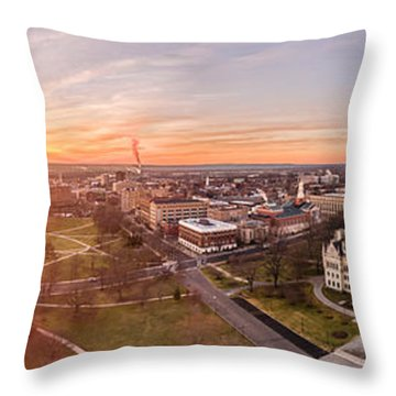 Throw Pillow featuring the photograph Sunrise In Hartford, Connecticut by Petr Hejl