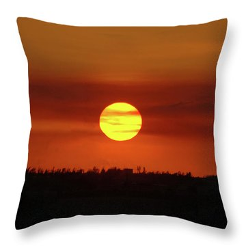 Throw Pillow featuring the photograph 4- Sunset by Joseph Keane