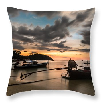 Sunset Over Koh Lipe Throw Pillow