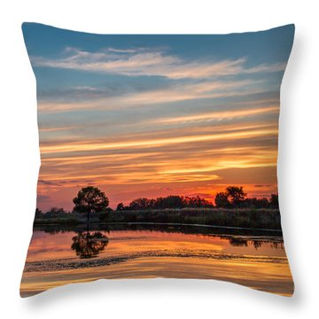 Sunset Reflections Throw Pillow by Robert Bales