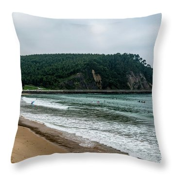 Surf Some Waves Throw Pillow