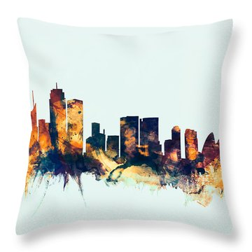 Sydney Australia Skyline Throw Pillow by Michael Tompsett