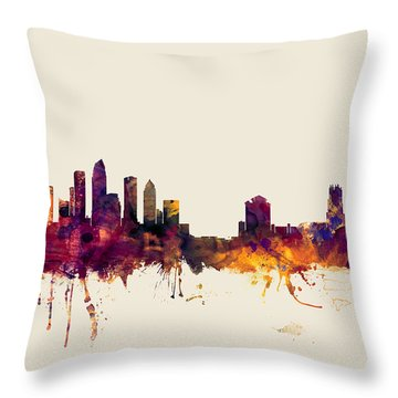 Tampa Florida Skyline Throw Pillow