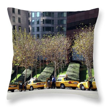 4 Taxis In The City Throw Pillow