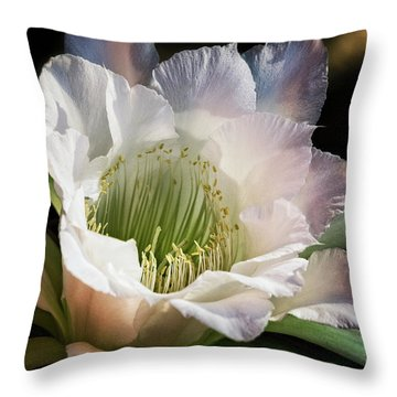 Throw Pillow featuring the photograph The Beauty Of White  by Saija Lehtonen