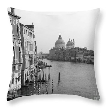 The Grand Canal In Venice Throw Pillow