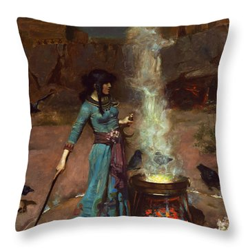 The Magic Circle Throw Pillow