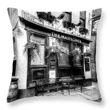 The Mayflower Pub London Throw Pillow