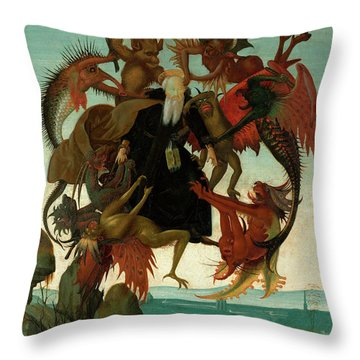 The Torment Of Saint Anthony Throw Pillow