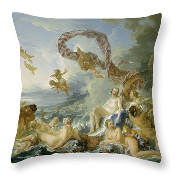 The Triumph Of Venus Throw Pillow