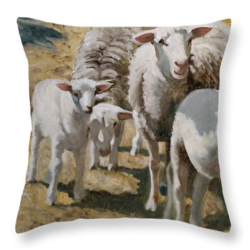 The Whole Family Is Here Throw Pillow