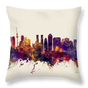 Tokyo Japan Skyline Throw Pillow