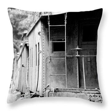 Train Throw Pillow by Sebastian Musial