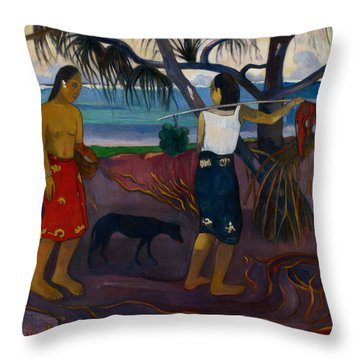 Under The Pandanus II Throw Pillow