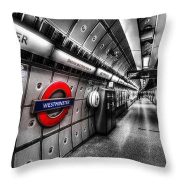 Underground London Throw Pillow by David Pyatt
