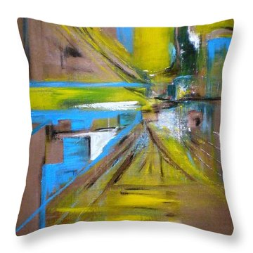 Untitled Throw Pillow by Philip Okoro