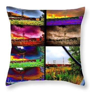 Urban Mobile Art Installation Throw Pillow