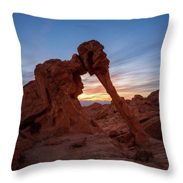Valley Of Fire S.p. Throw Pillow by Jon Manjeot